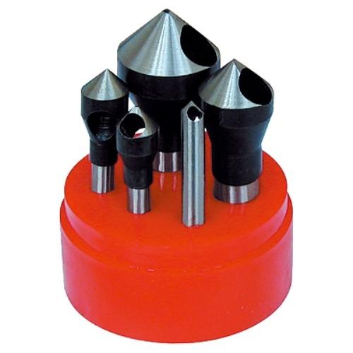 ABS Import Tools ABS Import Tools 5 Piece Zero-Flute Countersink & Debur Tool Set (90Degree)