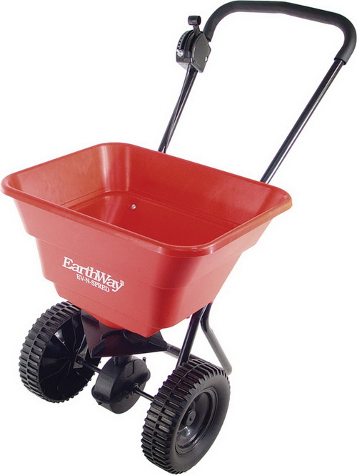 Earthway deluxe residential spreader red / 80 pound hopper - 2050su at Sears.com