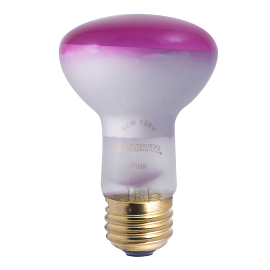 BulbRite 50R20A 50-Watt Incandescent R20 Reflector, Medium Base, Pink at Sears.com
