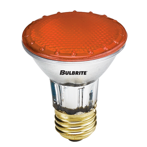 BulbRite H50PAR20A 50-Watt Dimmable Halogen PAR20, Medium Base, Dark Amber at Sears.com