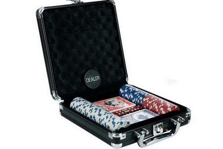 CHH 2681D 100 PC Poker Set With Dice Chip