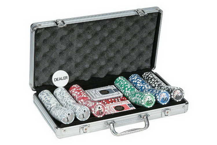 CHH 2783B 300 PC Big Number Poker Set