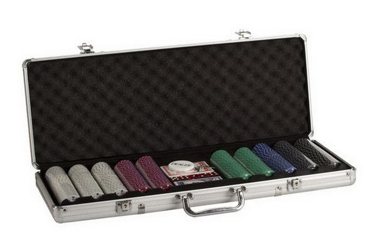 CHH 2785S 500PC SuitedChip Aluminum Poker Set