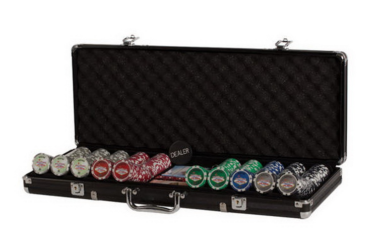 CHH LV2685L 500 PC Las Vegas Black Poker Set