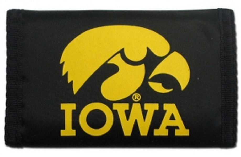 Casey Iowa hawkeyes nylon trifold wallet - Black