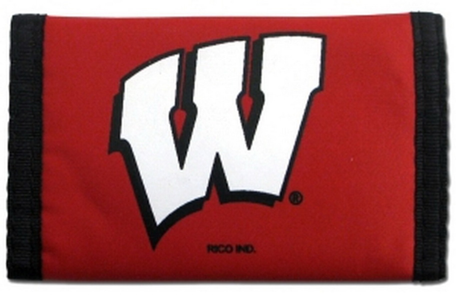 Casey Wisconsin badgers nylon trifold wallet - Red