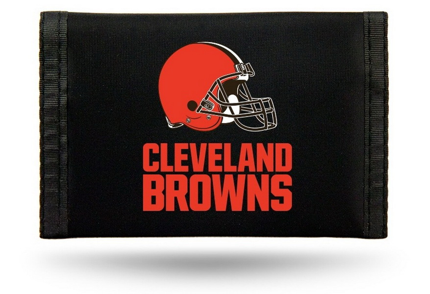 Casey Cleveland browns nylon trifold wallet - Black