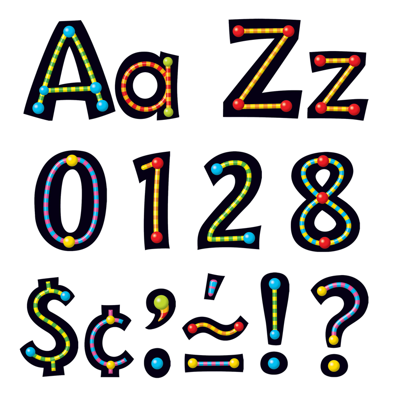 Trend enterprises t-79755 alpha-beads ready letters 4in, Price/EA