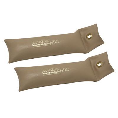 Cando (Price/Pair)CanDo 10-0358-2 Cando Softgrip Hand Weight - 6 Lb. - Tan