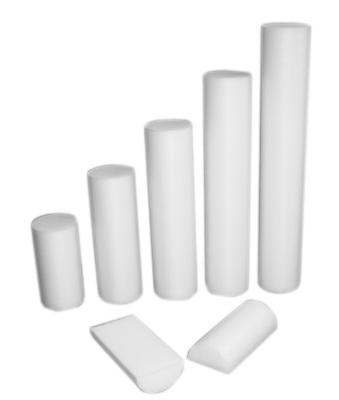 Cando (Price/Each)CanDo 30-2142 Cando Foam Roller - White Pe Foam - 6 X 18 Inch - Round