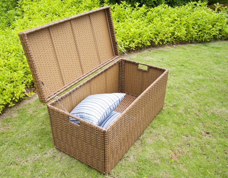 Jeco ORI003-C Honey Wicker Patio Storage Deck Box