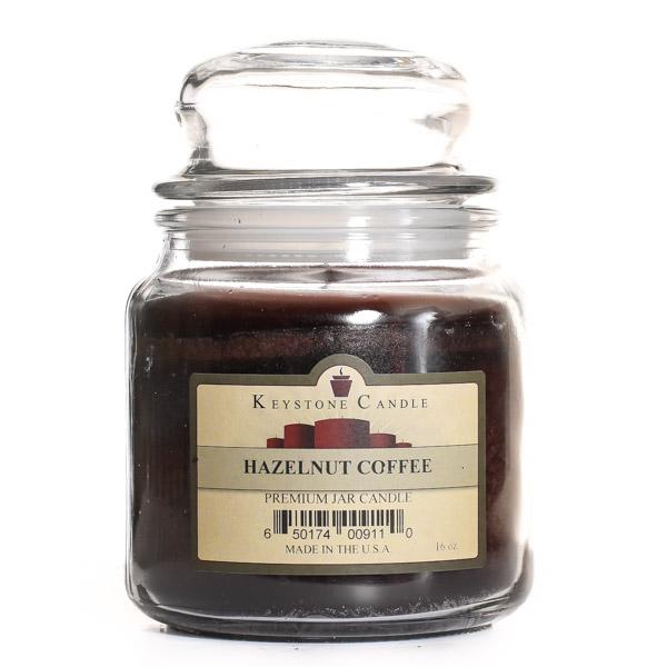 Keystone Candle J16-HazCoffee Hazelnut Coffee Jar Candles 16 oz