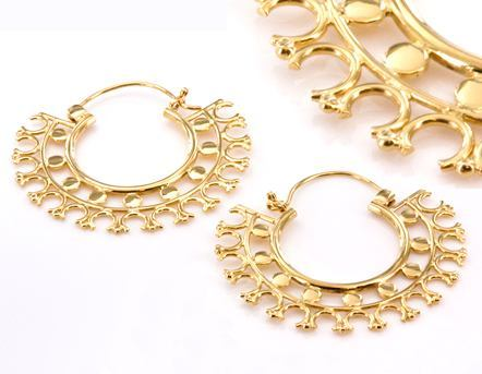 Painful Pleasures 18G Gold Plated Indonesia Melatie Style Earrings - Price Per 2
