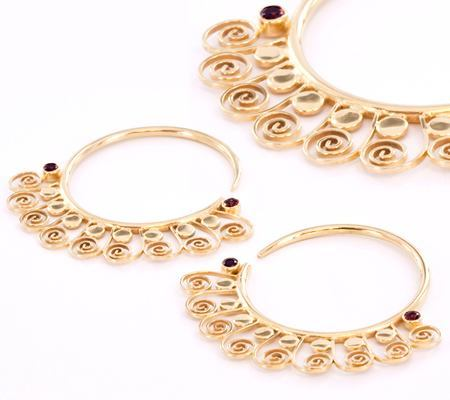 Painful Pleasures 12G Gold Plated Indonesia Style Earrings - Price Per 2