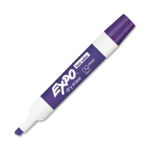 EXPO (Price/DZ)Expo Dry Erase Marker, Chisel Marker Point Style - Purple Ink - 12 / Dozen
