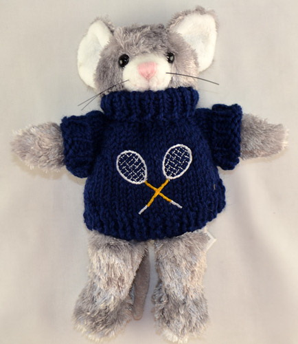 Tennis sports Tennis Mouse w/Sweater