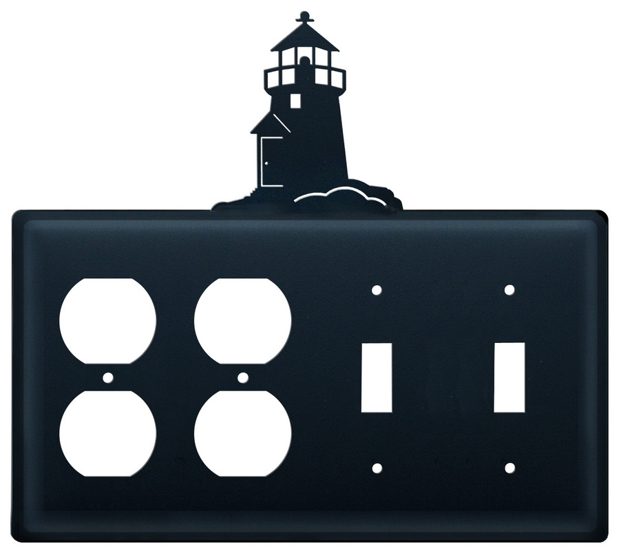 Village Wrought Iron (Price/Each)Village Wrought Iron EOOSS-10 Lighthouse Double Outlet and Double Switch Cover
