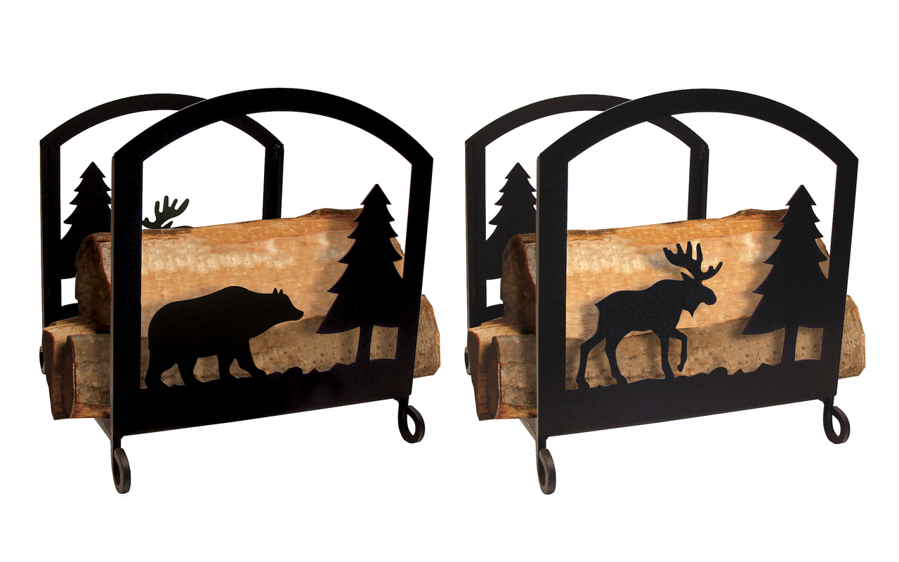 Village Wrought Iron (Price/Each)Village Wrought Iron FP-WR-22-83 Moose and Bear Wood Rack at Sears.com