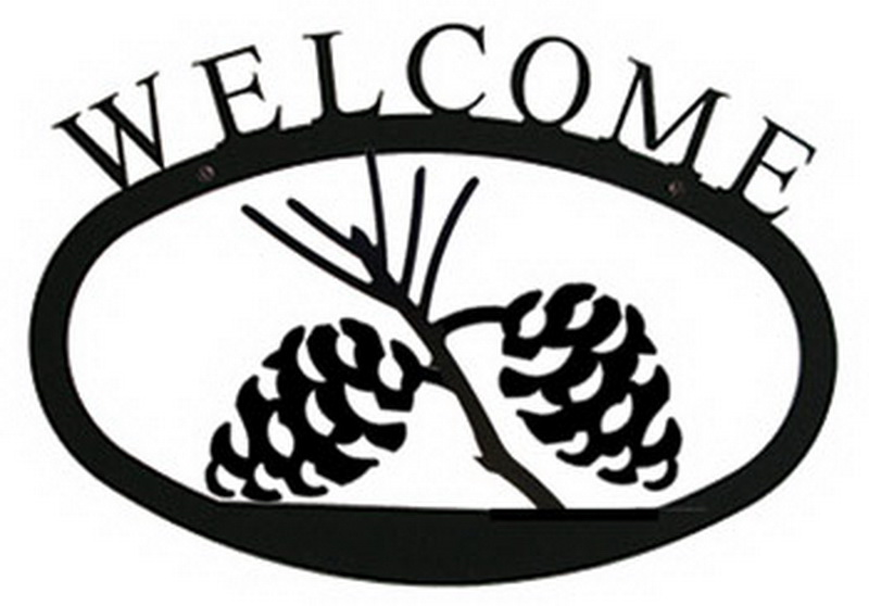 Village Wrought Iron (Price/Each)Village Wrought Iron WEL-89-L Pinecone Welcome Sign LG at Sears.com