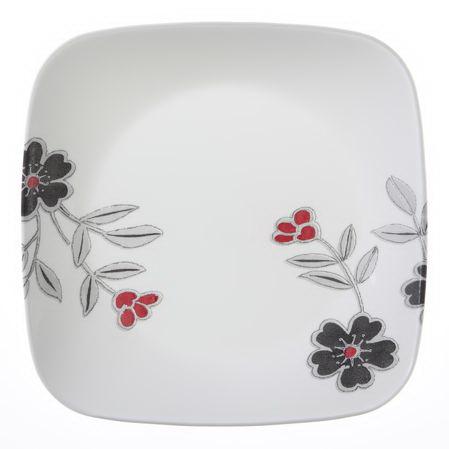 "Corelle 1080175 Square Mandarin Flower 8 3/4"" Salad Plate"