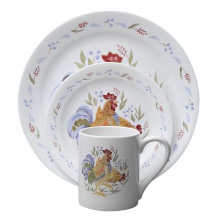 1093166 Impressions Country Morning 16-pc Dinnerware Set