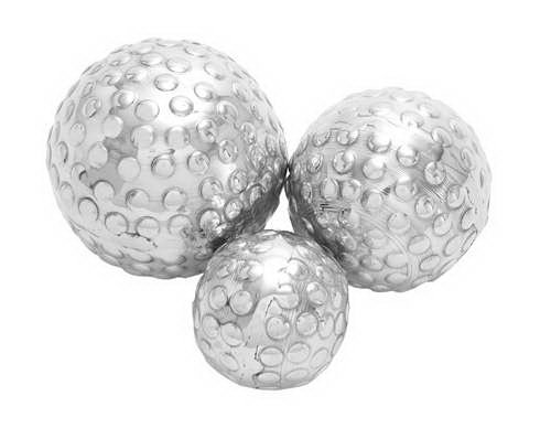 Woodland 26985 set of 3 decor ball in silver finish at Sears.com