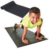 Champion Aerobic Mat, Black Pebble Finish, Price/EA