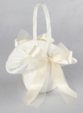 Tres Beau Flower Girl Basket, Ivory