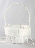 Audrey Flower Girl Basket, Ivory