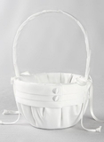 Audrey Flower Girl Basket, White