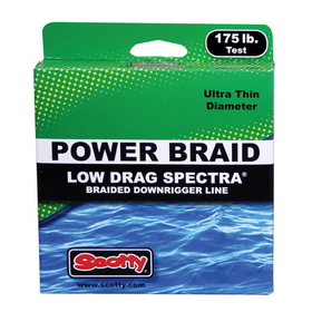 Scotty Low Drag Premium Braided Downrigger Line - 300'