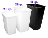 Wastebin 21 QT WHITE 13x8.75x15.25, Price/EA