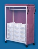 IPU Standard Line Garment Rack With 24 Bins