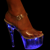 "Karo's Shoes 0032 Blue Light, approximately 7"" Heel"