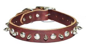 "1-Ply Spiked & Studded Latigo Collar(1/2"" RG Collar)"