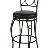 Linon 02730MTL-01-KD-U Circles Back Counter Stool 24