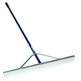 Midwest Rake 10024 24&quot; Landscape Rake, 66&quot; Blue Aluminum Handles,Rakes,Lawn & Landscaping, Price/each