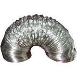 "DEFLECTO FLXC0408 Aluminum Ducting (4"" dia, 2-Ply; 8 ft; UL 181 Class 1 Air Connector)"