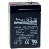 Exit Sign Battery, 2.75&quot;x4&quot;x1.875&quot;, 6V, 4AH