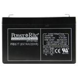 Exit Sign Battery, 6&quot;x3.75&quot;x1.375&quot;, 6V, 7AH