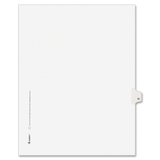 "Avery Individually Numbered Avery-Style Dividers, 1 x Tab Printed 16 - 25 Tab(s)/Set - 8.5"" x 11"" - 25 / Pack - White Divider, Price/PK"