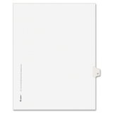 "Avery Individually Numbered Avery-Style Dividers, 1 x Tab Printed 17 - 25 Tab(s)/Set - 8.5"" x 11"" - 25 / Pack - White Divider, Price/PK"