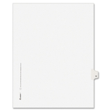 "Avery Individually Numbered Avery-Style Dividers, 1 x Tab Printed 18 - 25 Tab(s)/Set - 8.5"" x 11"" - 25 / Pack - White Divider, Price/PK"