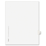 "Avery Individually Numbered Avery-Style Dividers, 1 x Tab Printed 19 - 25 Tab(s)/Set - 8.5"" x 11"" - 25 / Pack - White Divider, Price/PK"