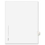 "Avery Individually Numbered Avery-Style Dividers, 1 x Tab Printed 20 - 25 Tab(s)/Set - 8.5"" x 11"" - 25 / Pack - White Divider, Price/PK"