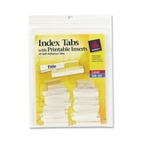 Avery Self-Adhesive Index Tabs With Printable Insert, Print-on - 25 / Pack - Clear Tab, Price/PK