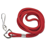 Baumgartens Standard Cord Lanyard, Red, Price/EA