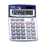 "Canon LS100TSG Mini-desktop Calculator, 10 Character(s) - LCD - Battery/Solar Powered - 4"" x 5.3"" x 1.2"", Price/EA"