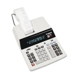 "Canon MP21DX Color Printing Calculator, 12 Character(s) - Fluorescent - AC Supply Powered - 3.7"" x 9"" - White, Price/EA"