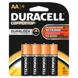 Duracell DURMN1500B4Z Duracell Alkaline General Purpose Battery, AA - Alkaline - 1.5 V DC, Price/PK
